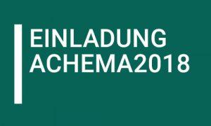 Einladung Achema 2018 AKK